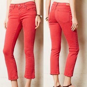 Anthropologie Pilcro Stet Slim Cropped Jeans 25